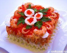 Варианты оригинального оформления салатов к международному женскому празднику. Так можно оформить любые салаты к 8 Марта!