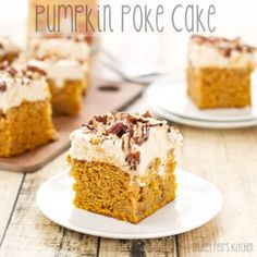 Pumpkin Poke Cake | From: sweetpeaskitchen.com