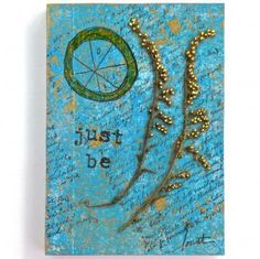 """""""Just Be"""" - an Altered Mini Composition Book, made with love on #Zibbet - Sold."""