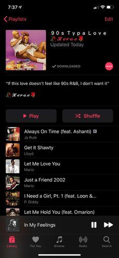 Good R&b Songs, Good Playlists, Music Mood, Mood Songs, Upbeat Songs, Music Songs, Playlist Names Ideas, Throwback Songs, Love Songs Playlist