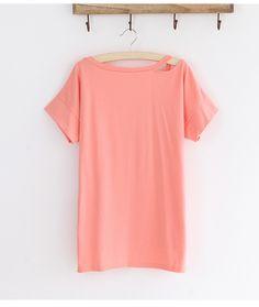Women Casual Clothes Korea Style Cozy Joker Solid V-Neck Cotton Tops Irregular Sweep T-Shirt