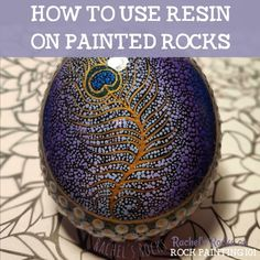 Learn how to make beautiful and glossy rocks using resin. These tips will help you to create amazing painted rocks! Rock Painting Supplies, Rock Painting Ideas Easy, Rock Painting Designs, Painted Garden Rocks, Painted Rocks, Stone Crafts, Rock Crafts, Resin Crafts, Mandela Rock Painting