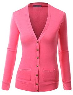 BIAGIO Women Button Down Long Sleeve Basic Soft Knit Cardigan ...