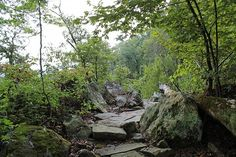 Cool rocky area about midway up the Nebo Springs Trail