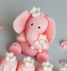 *SUGAR ART ~ elephant birthday or christening cake topper by Lucyscakesandtoppers.co.uk, via Flickr