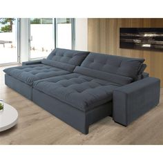 Sofá Anjos Confortable Bipartido 248 cm 3 Lugares Encosto Reclinável e Assento Retrátil – Veludo Living Pequeños, Living Room Sofa, Sofa Cumbed Design, Mesa Sofa, Home Planner, Bedroom Closet Design, My Ideal Home, Comfort Design, Home Decor Online
