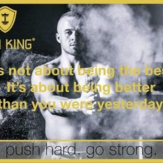 It's not about being the best.  It's about being better than you were yesterday. www.iron-king.eu  #ironking #iron_king_body #pushhard #gostrong #healthylifestyle #muskelaufbau #training #trainingsprogramm #fit #fitness Mantra, My King, Nice View, Fitness, Iron, Training, Photo And Video, Motivation, Instagram