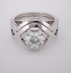 contemporary wedding rings | diamond engagement ring setting contemporary diamond engagement ring ...