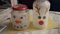 Sneeuwman en Eland lampje