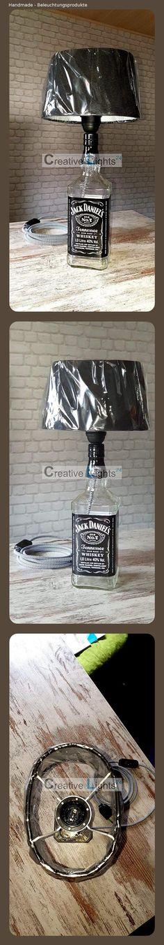 Jack Daniels Modern LED-Tischlampe,Nachttischlampe  Super Geschenk !!!In Braun