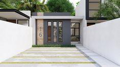 House Front Design, Small House Design, Home Design Plans, Apartment Design, House Plans, Sweet Home, Villa, Outdoor Decor, Home Decor