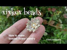 xixkox beads ✺ビーズで編む小菊のピアス Beaded Jewelry - YouTube