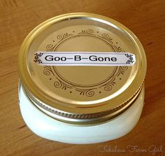 All Natural Goo-B-Gone by FabulousFarmGirl. Works as good as store-bought and smells so much better.
