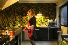 Marokkaanse zelliges in de keuken (de keuken op zich... mwah, daar droom ik niet van)
