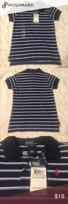 NWT Handsome Navy, Light Blue and White 2T Polo Adorable Ralph Lauren 👕. Classic, never go out of style look for your bundle of joy! Polo by Ralph Lauren Shirts & Tops Polos