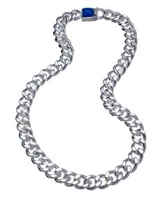 Jules Smith Silver and Blue Hard Rock Life Necklace