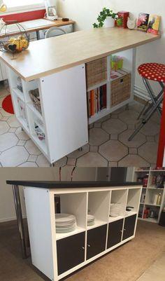 Ikea hack : détourner et customiser une étagère Kallax