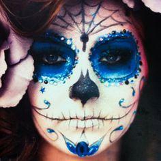 Halloween make-up.