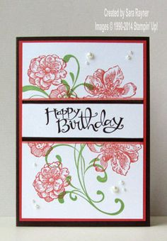 Everything Eleanor birthday card using Stampin' Up! supplies, by demo Sara Rayner, www.craftingandstamping.com  #stampinup