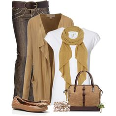 """""""Jeans and a Cardigan"""" by cindycook10 on Polyvore (LOVE this one too, keep everything)"""