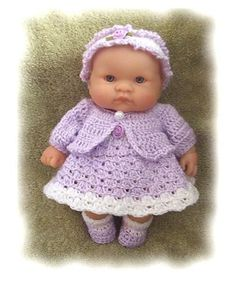 Sweet Baby doll clothes  Spring Set for 8 Inch Berenguer pattern by Amy Carrico