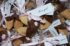 Asian themed chocolate dipped fortune cookie baby shower party favors by Simply Sweets, via Flickr