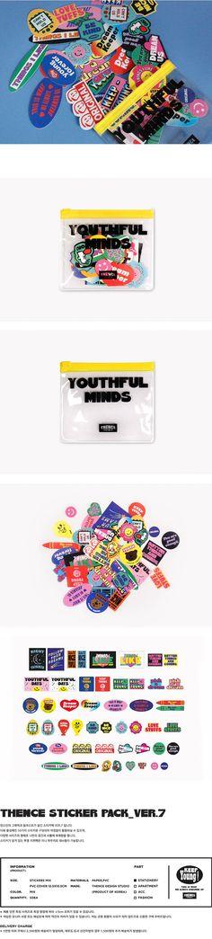 텐바이텐 10X10 : THENCE STICKER PACK_VER.7 Graphic Design Posters, Graphic Design Inspiration, Stationary Design, Stickers, Design Reference, Sticker Design, Packaging Design, Illustrators, Retro