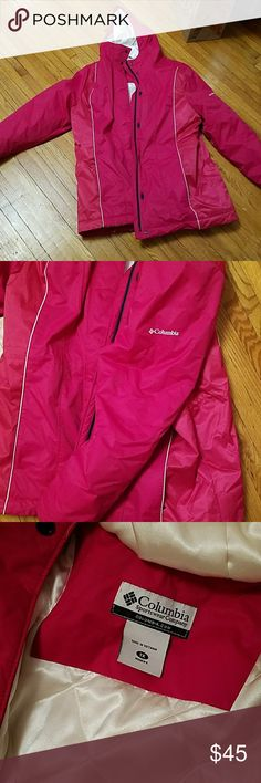 Columbia 1xl fuchsia down parka Down parka, super warm. Columbia brand name. Women's 1xl. Bright fuchsia pink color. Adjustable waist.  Adjustable  hood. EUC. Re-Posh because it doesn't quite work on my body. It will totally work on yours! Smoke free home. Columbia Jackets & Coats