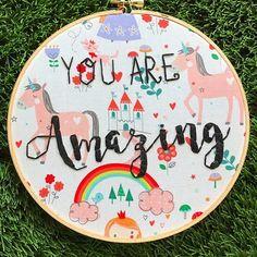 True story  #youareamazing #happysunday . . . #handembroidery #embroidery #embroideryhoop #rileyblakedesigns #rainbowsandunicorns #rainbows #unicorns #unicornlove #hoopart #girlsroom #unicornroom #rainbowroom #unicorndecor #motivationaldecor #ABMlifeiscolorful #thatsdarling