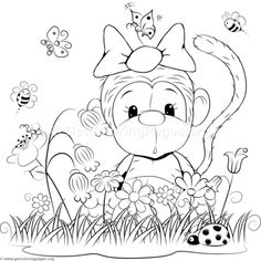 Cartoon Animal Romantic Bears Couple in Love and Stars Coloring Pages