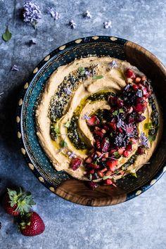 Summer Fruit Salsa and Pesto Hummus
