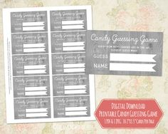 Candy Guessing Game for Baby Shower Printable Cards Rustic Grey Wood Vintage Instant Digital Download Jelly Bean Guessing Game baby shower shower printables gender neutral rustic baby shower guessing game guessing game card candy guessing game baby shower game printable games country wood wood pattern digital games DreamingMindCards 5.00 USD