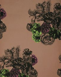 Peonie Copper, Burgundy and Lime från Piero Fornasetti