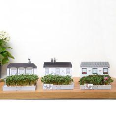Mini Anbau Kit Geschenk, englische Dorfkneipe, Hütte und shop