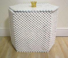 Artesanato com Garrafa Pet cesto para roupas