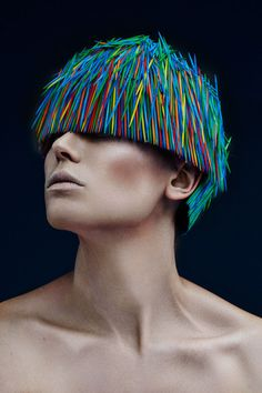 Prickly Toothpick Headdress Photography - The Hair Art Photography by Strange and Darley is Daring (GALLERY)