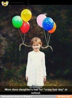 real fun - Crazy Amy ! Nice idea ! #hair #balloon #comics #funny #gag #giggle #joke #girl #amusing #pictures #joke #funny - Funomenia