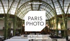 Bienvenue! La 20ème édition de Paris Photo se tiendra du 10 au 13 novembre 2016 au Grand Palais. La premières foire mondiale dédiée au médium photographique réunira 180 exposants, et proposera 5 jours d'évènements publics et d'expositions.