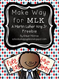 Make Way for MLK: A Free Learning Packet with 2 Literacy Centers, 2 Math Centers, and A Writing Craftivity Mlk Jr Day, Martin Luther Jr, First Grade Teachers, Mentor Texts, Teaching Social Studies, School Holidays, Winter Holidays, Teacher Blogs, In Kindergarten
