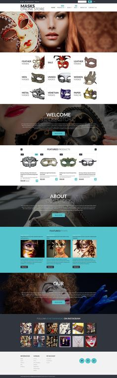 9+ Amazing Wedding, Events & Party Supplies Store Shopify Themes - Masks Online Store
