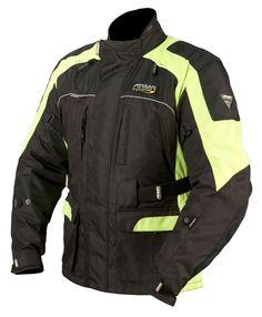 Armr Moto Bomber Motorcycle Jacket Black Aramid Waterproof Bike Thermal CE