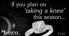 "Bring your """"A"""" game boys!  #Engagement #MarryMe #TakeAKnee #Football """