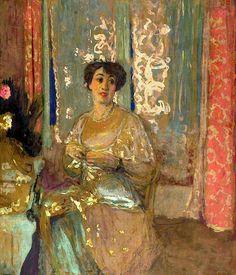 "Edouard Vuillard (1868-1940): ""Portrait de Marcelle Aron""."