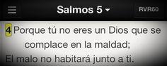 Dios no permitirá que nos hagan sufrir indefinidamente. #Promesa Salmo 5:4