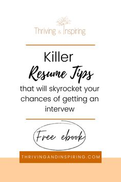 17 Things Every Job Seeker Should Know About Their Resume | Thriving and Inspiring | Ready to land that next interview and get into your dream job? Implement these killer resume tips that will amp up your resume and be just what employers are looking for. Click here for a free ebook that will put you on a path toward personal development in your career. #personaldevelopmentarticles #resumetips Personal Development Plan Example, Professional Development, Career Quotes, Career Advice, Career Counseling, Cover Letters, Find Quotes, Career Coach, Resume Tips