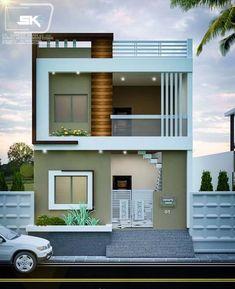 Modern House Elevation One Floor. 20 Modern House Elevation One Floor. House Outside Design, House Front Design, Small House Design, Modern House Design, Bungalow Haus Design, Duplex House Design, Indian Home Design, House Layout Plans, Modern House Plans
