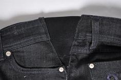 DIY makeover denimn jeans for maternity : elastic side-017