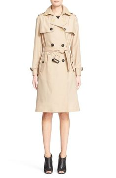 BURBERRY Mulberry Silk & Wool Trench Coat. #burberry #cloth #