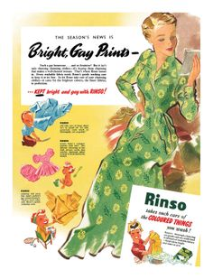 1951 Rinso ad