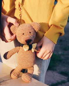 Handmade crochet teddy bear